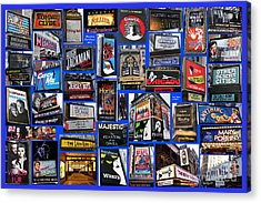 Broadway Collage Acrylic Print by Steven Spak