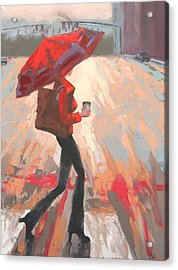 Broadway Java Crossing Acrylic Print by Thalia Kahl