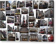 Broadway Theatre Collage Acrylic Print by Steven Spak