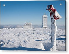 Brocken In Winter Acrylic Print by Andreas Levi