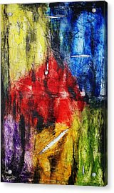 Acrylic Print featuring the painting Broken 4 by Michael Cross