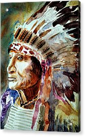Acrylic Print featuring the painting Broken Arm by Steven Ponsford