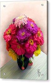 Broken Blooms Acrylic Print by Ric Darrell