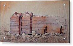 Broken Dock Seward Alaska Acrylic Print