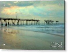 Broken Dreams - Frisco Pier Outer Banks II Acrylic Print by Dan Carmichael