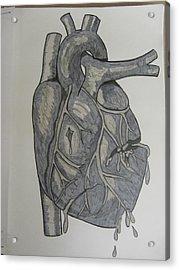 Broken Heart Acrylic Print by Rosanne Bartlett