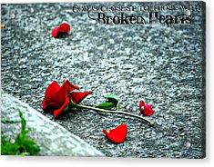 Broken Hearts Acrylic Print