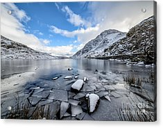 Broken Ice Acrylic Print by Adrian Evans