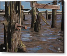 Abandoned Pier Acrylic Print by Christopher Reid