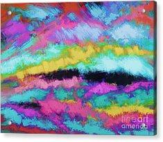 Broken Sky Acrylic Print by Keith Mills