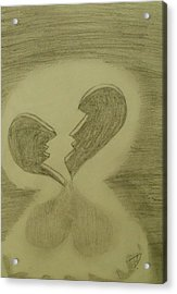 Acrylic Print featuring the drawing Broken by Thomasina Durkay