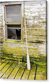Broken Window Acrylic Print by Mary Carol Story