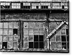 Broken Windows In Black And White Acrylic Print by Paul Ward