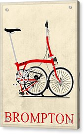 Brompton Bike Acrylic Print by Andy Scullion