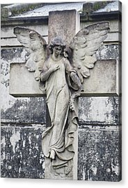 Brompton Cemetery Angel Acrylic Print by Gia Marie Houck