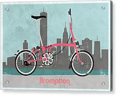 Brompton City Bike Acrylic Print by Andy Scullion