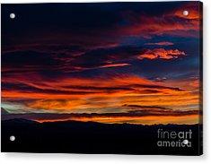 Bronco Sunset Acrylic Print