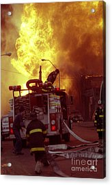 Acrylic Print featuring the photograph Bronx Gas Explosion-1 by Steven Spak