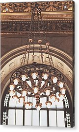 Acrylic Print featuring the photograph Bronze Chandelier by Heather Green