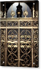 Acrylic Print featuring the photograph Bronze Gate by Heather Green