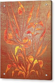 Acrylic Print featuring the painting Bronze by Nico Bielow
