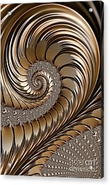 Bronze Scrolls Abstract Acrylic Print by John Edwards
