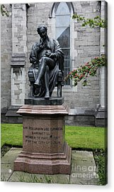 Bronze Statue Of Sir Benjamin Lee Guinness  Acrylic Print by Christiane Schulze Art And Photography
