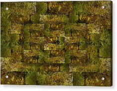 Acrylic Print featuring the digital art Bronze Weave by Tom Romeo