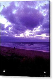 Acrylic Print featuring the photograph Brooding Clouds II by Amanda Holmes Tzafrir