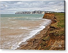 Brook Bay And Chalk Cliffs Acrylic Print