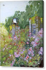 Brookgreen Old Kitchen Bell Acrylic Print by Cecelia Campbell