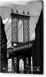 Manhattan Bridge Nyc Acrylic Print by Peter Dang