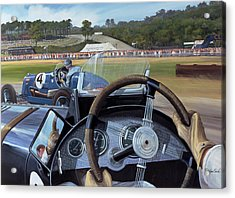 Brooklands - From The Hot Seat Acrylic Print by Richard Wheatland