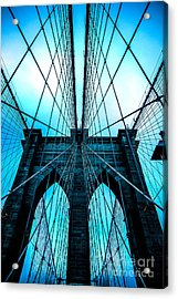 Brooklyn Blues Acrylic Print by Az Jackson