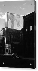 Acrylic Print featuring the photograph Brooklyn Bridge 1970 by John Schneider