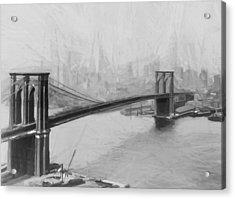 Brooklyn Bridge 2 Acrylic Print by Steve K