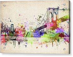 Brooklyn Bridge Acrylic Print by Aged Pixel