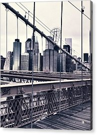Brooklyn Bridge Acrylic Print by CD Kirven