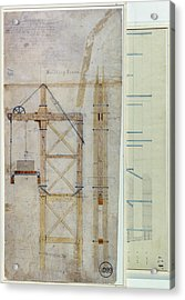 Brooklyn Bridge: Diagram Acrylic Print by Granger
