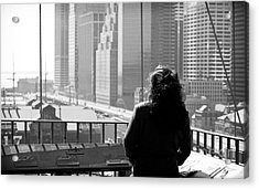 Brooklyn Bridge Dreaming 1990s Acrylic Print by John Rizzuto
