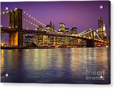 Brooklyn Bridge Acrylic Print by Inge Johnsson