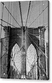 Brooklyn Bridge Acrylic Print by Lorella  Schoales
