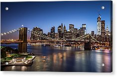 Acrylic Print featuring the photograph Brooklyn Bridge by Mihai Andritoiu