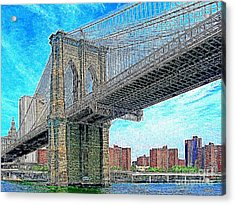 Brooklyn Bridge New York 20130426 Acrylic Print by Wingsdomain Art and Photography