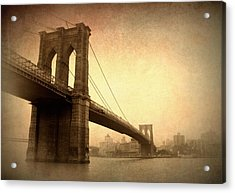 Brooklyn Bridge Nostalgia II Acrylic Print