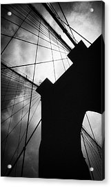 Brooklyn Bridge Silhouette Acrylic Print