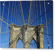 Acrylic Print featuring the photograph Brooklyn Bridge Tower by Jose Oquendo