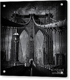 Brooklyn Bridge Up Close New York City Acrylic Print