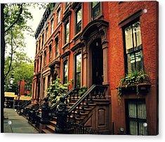 Brooklyn Brownstone - New York City Acrylic Print by Vivienne Gucwa