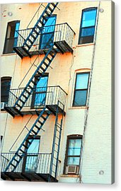 Brooklyn Fire Escape Acrylic Print by Jon Woodhams